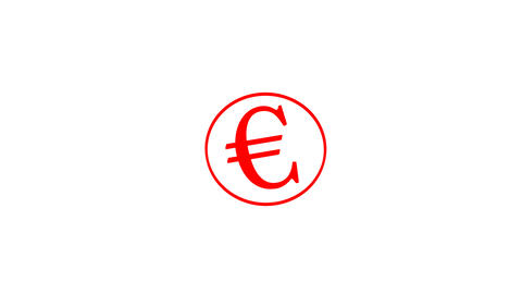 Stamp EURO Stock Video Footage
