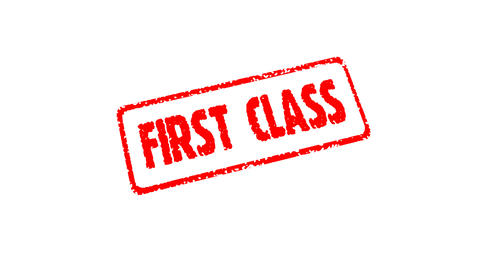 Stamp FIRST CLASS Stock Video Footage