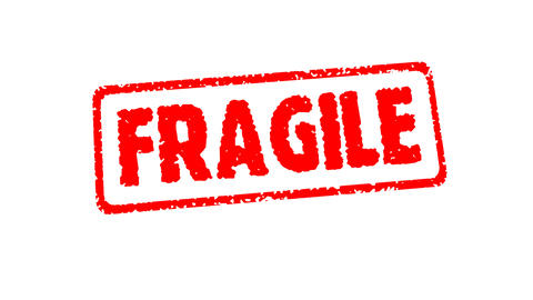 Stamp FRAGILE Stock Video Footage
