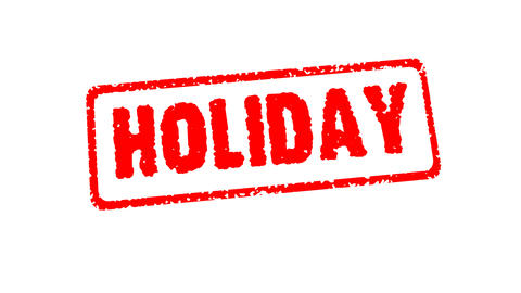 Stamp HOLIDAY Stock Video Footage