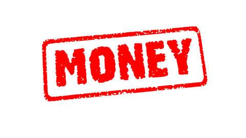 Stamp MONEY Stock Video Footage
