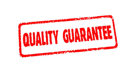 Stamp QUALITY GUARANTEE Stock Video Footage