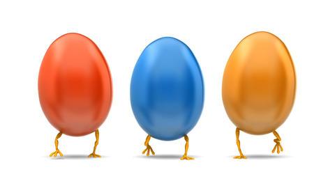 Walking Eggs, loop Stock Video Footage