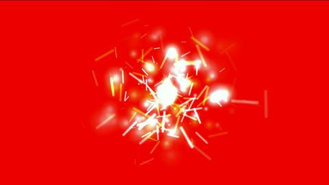 golden swirl lights,dazzling sticks & particle... Stock Video Footage