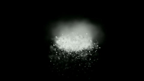 snowstorm in darkness,particle,explosion,spray,smoke,fog,weird background.avalanches,boiling,heat,la Animation
