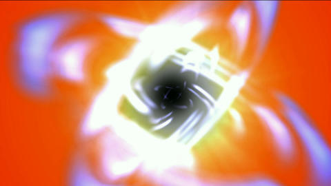 swirl curve light around black hole,tech energy laser... Stock Video Footage