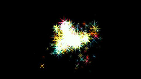 shine stars,fireworks,falling particle,festival & wedding backgroud.welding,burn Animation