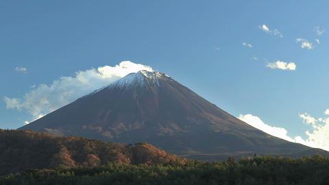 Fuji Mountain from Sai Lake,Yamanashi,Japan Stock Video Footage