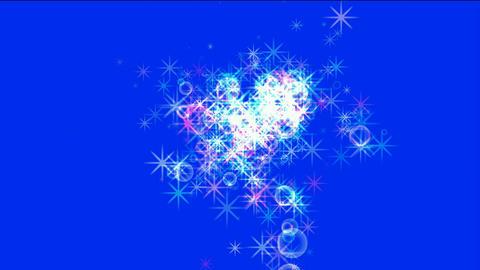 flare stars & soap bubble,waterdrop,falling... Stock Video Footage