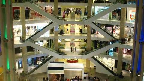 Shopping mall. Timelapse Stock Video Footage