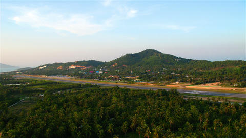 Airport on Samui island, Thailand Stock Video Footage