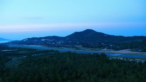 Airport on Samui island, Thailand Stock Video Footage