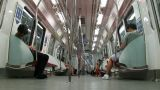 Passenger Traffic In Singapore Subway (MRT) stock footage