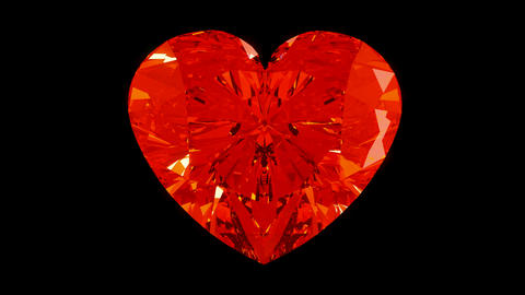 Loopable Rotating or ticking diamond heart. Alpha is... Stock Video Footage