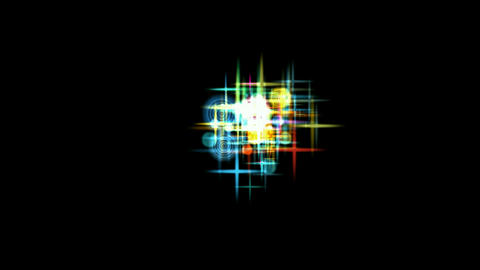 soap bubble & flare stars,waterdrop,falling... Stock Video Footage