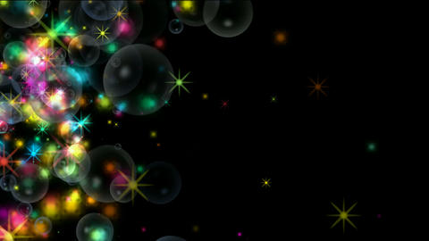shine stars & soap bubble,waterdrop,fireworks,falling... Stock Video Footage