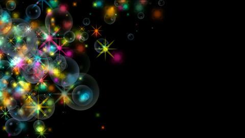 shine stars & soap bubble,waterdrop,fireworks,falling... Stock Video Footage