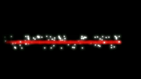 white particles winding around red laser line,dancing... Stock Video Footage