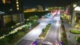 Singapore roads at night, timelapse in motion Footage