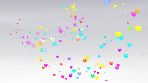 Colorful Heart FhD HD Stock Video Footage