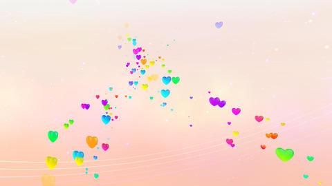 Colorful Heart RhD HD Stock Video Footage