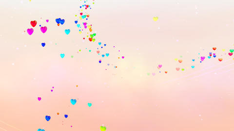 Colorful Heart RhD HD Stock Video Footage