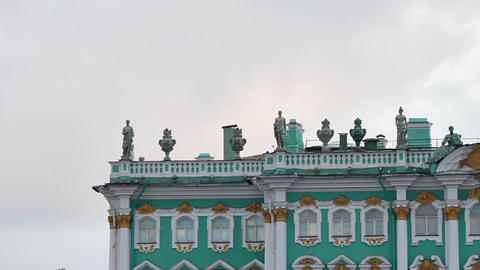 The upper part of the Winter Palace Stock Video Footage