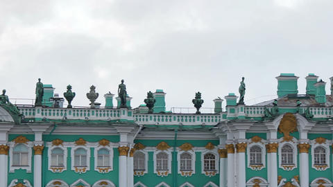 The upper part of the Winter Palace Footage