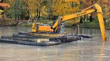 Dredging Machine stock footage