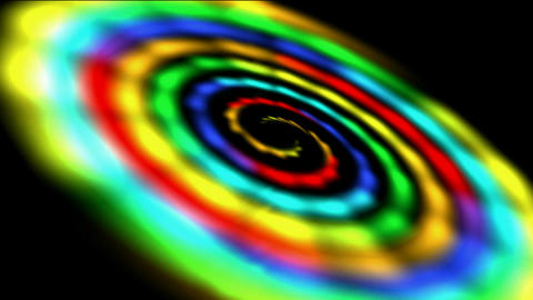 rotation rainbow galaxy & rays light in out... Stock Video Footage