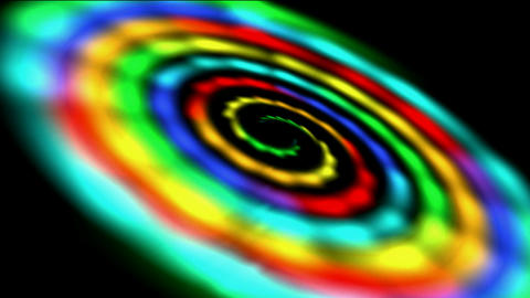 rotation rainbow galaxy & rays light in out space,beautiful stars Milky Way in cosmos,time wormhole Animation