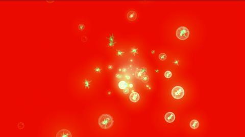 golden lightning in balls,flying blister,flare... Stock Video Footage