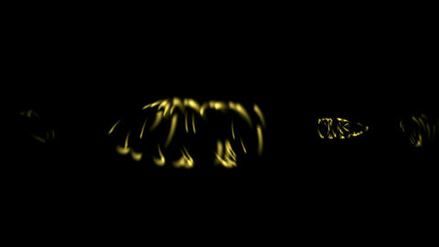 rotation golden metal ring,swirl cyclones,circle laser... Stock Video Footage
