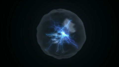flare lightning in balls enchantment,nuclear... Stock Video Footage
