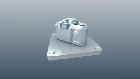 3d metal icon Stock Video Footage