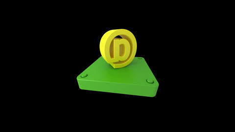 3d icons for Internet and video editing Stock Video Footage