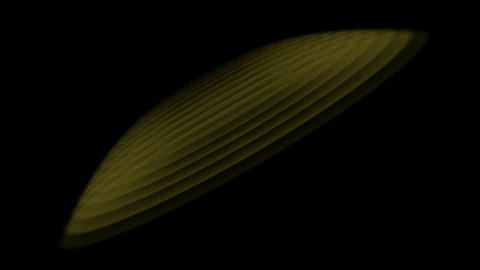 UFO in space,float oval with stairway.Fireworks,material,texture Animation