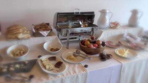 Luxury Breakfast stock footage