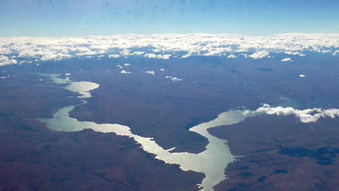 Panoramic view from Propeller Aircraft Live Action