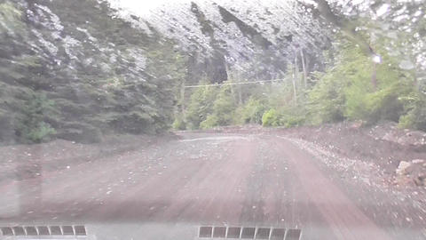Windscreen Wipers in a Mountain Road Live Action