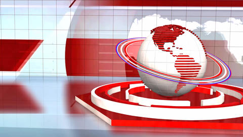 News Broadcast Background World Animation Footage