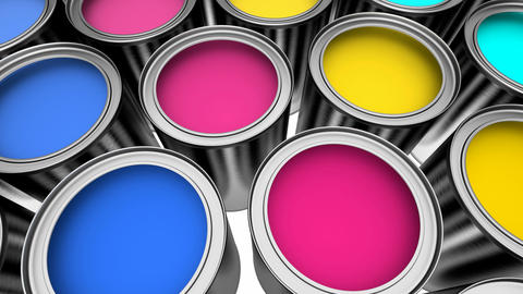 Paint cans Animation