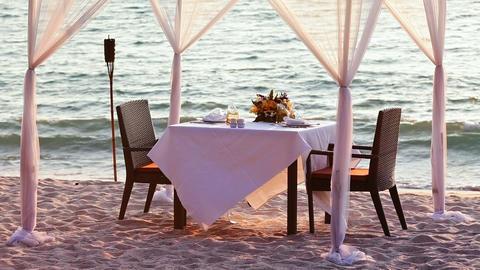 Romantic dinner Footage