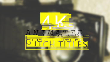 Animated Glitch Titles After Effects Project