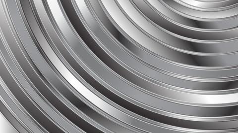 Moving round metallic shapes video animation Animation