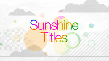 Sunshine Titles After Effects Project