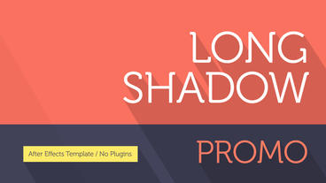 Clean Long Shadow Promo After Effects Template