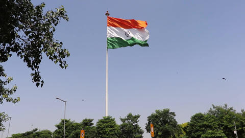 Tiranga, The National Flag Of India stock footage