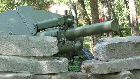 Howitzer D-30 stock footage