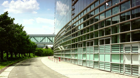 STRASBOURG, FRANCE: Exterior of European Parliament in Wacken district of Strasb Footage
